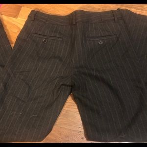 Theory wool pinstripe pants 0